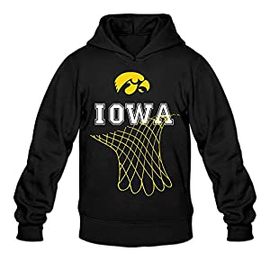 CYANY Iowa Hawkeyes Basketball - Net Dangling From School Women's Cute Hoodies Hooded Sweatshirt SBlack