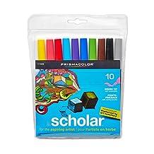 Sanford Prismacolor Scholar Brush Marker, 10-Pack