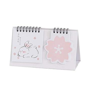 NUOBESTY mini 2020 calendario de escritorio hojas sueltas estilo ...