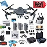 DJI Mavic Pro Drone Quadcopter Fly More Combo with 3 Batteries, 4K Professional Camera Gimbal Bundle Kit, 64GB SD Card, Range Extender, Landing Pad, Must Have Accessories with DigitalAndMore HardCase