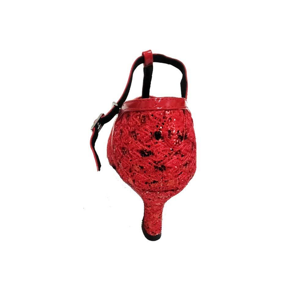 HCCY Roter Fischmund weicher weicher weicher Boden Indoor Tanzschuhe Rutschfeste lateinische Damen Tanzschuhe 37a5b9