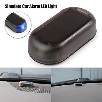 TiooDre Simular la alarma del coche solar del LED Sistema de seguridad Imitacišn Luz robo de advertencia del flash del centelleo de la lšÂmpara: ...