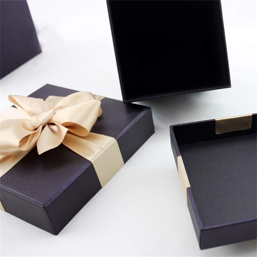 Dimensioni : 12/×12/×12cm Scatola da Regalo Quadrata Nera Scatola Decorata da Fiocco Stile Aziendale Adatto per i colleghi di Punta