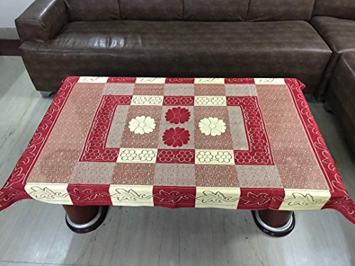 Style Your Home Floral Polycotton Table Cover   Maroon