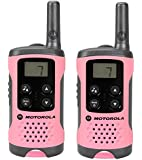Motorola Paire de talkies walkies Motorola T41 portée en champs libre 4km Rose