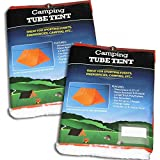 Cheap 2 Pack Tube Tent Emergency Survival Hiking Camping Shelter