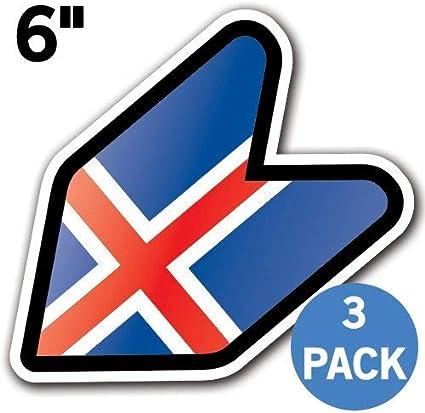 4 x sticker car motorrad suitcase laptop flag iceland icelandic
