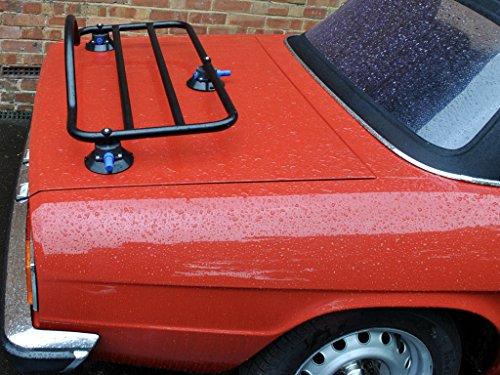 Alfa Romeo Spider ( 1966-2010 ) Luggage Trunk Rack Unique Design, No Clamps No Straps No Brackets No Paint Damage
