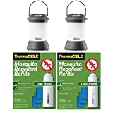 Thermacell Outdoor Mosquito Repeller plus Lantern, Bristol Decorative Bronze (2-Pack) + two R-1 Refill Packs