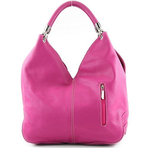 de cuero Made hombro Bolso Italy Pink mujer para al WqzFBq