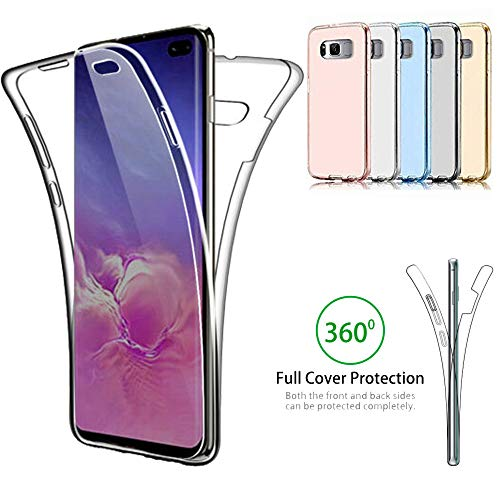 Galaxy S10 Plus Case,AMASELL-A Ultra Thin Clear Case 360 Coverage Full Body Protective Shell Shockproof Front and Back Crystal Soft Silicone Rubber Case Cover for Samsung Galaxy S10 Plus