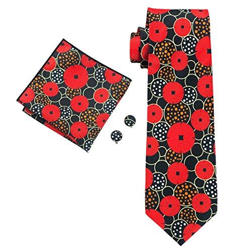 Hi-Tie New Style Floral Print Necktie Set