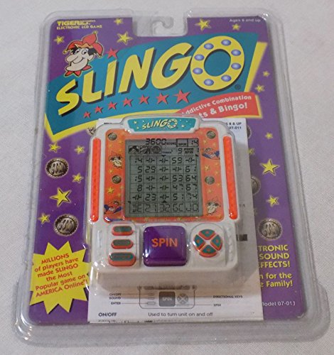 Slingo Handheld Bingo Slot Machine Electronic Game by Tiger Electronics