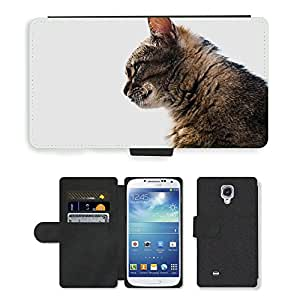 Hot Style Cell Phone Card Slot PU Leather Wallet Case // M00117418 Cat Circuit Nature // Samsung Galaxy S4 S IV SIV i9500