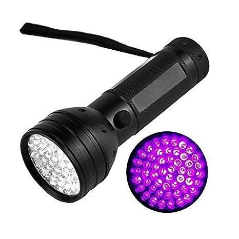 Linternas UV de luz negra, 51 LED de mano para mascota, perro, gato, orina, alfombra detector ...