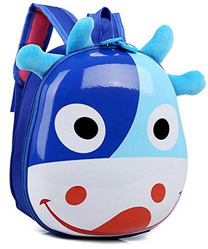 5 ALL Kinderrucksack Mädchen Jungen Kindertaschen Lässig Kindergartenrucksack Kinder Rucksack Kleine Karikatur Niedlich Gemütlich Hartschale Kinder Tasche Blau OAhCP