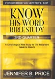 Know His Word Bible Study, Jennifer Price, 1451510705