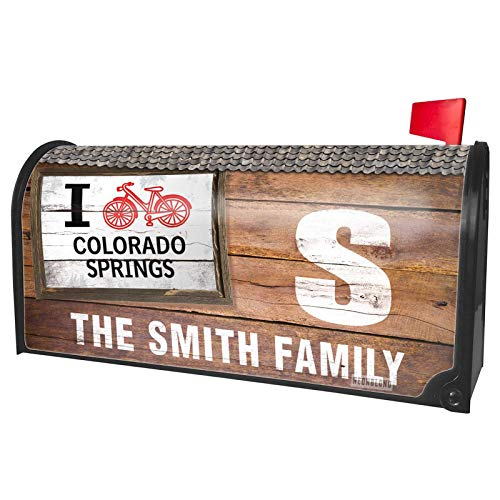 (NEONBLOND Custom Mailbox Cover I Love Cycling City Colorado)