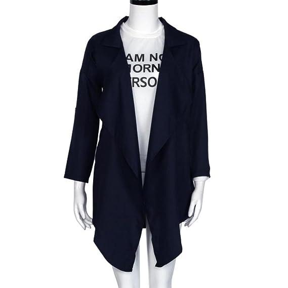 DEELIN AtmóSfera para Mujer Moda Chaqueta Casual Celebrity Casual Cardigan Chaqueta Superior Invierno: Amazon.es: Ropa y accesorios