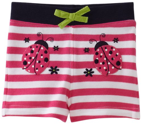 Hartstrings Baby Girls' Cotton Interlock Ladybug Short