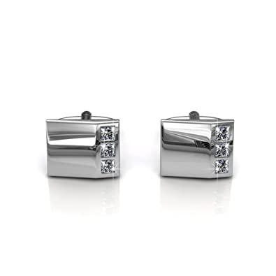 8a3ffb7787bb Image Unavailable. Image not available for. Color  DESTINY Gentlemen  Swarovski Crystal Cufflinks
