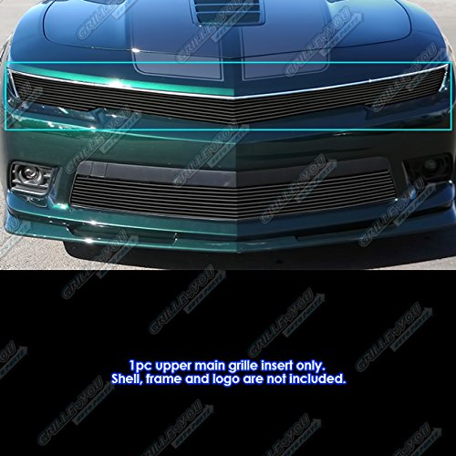 APS Compatible with 2014-2015 Chevy Camaro w RS Package Phantom Black Billet Grille -