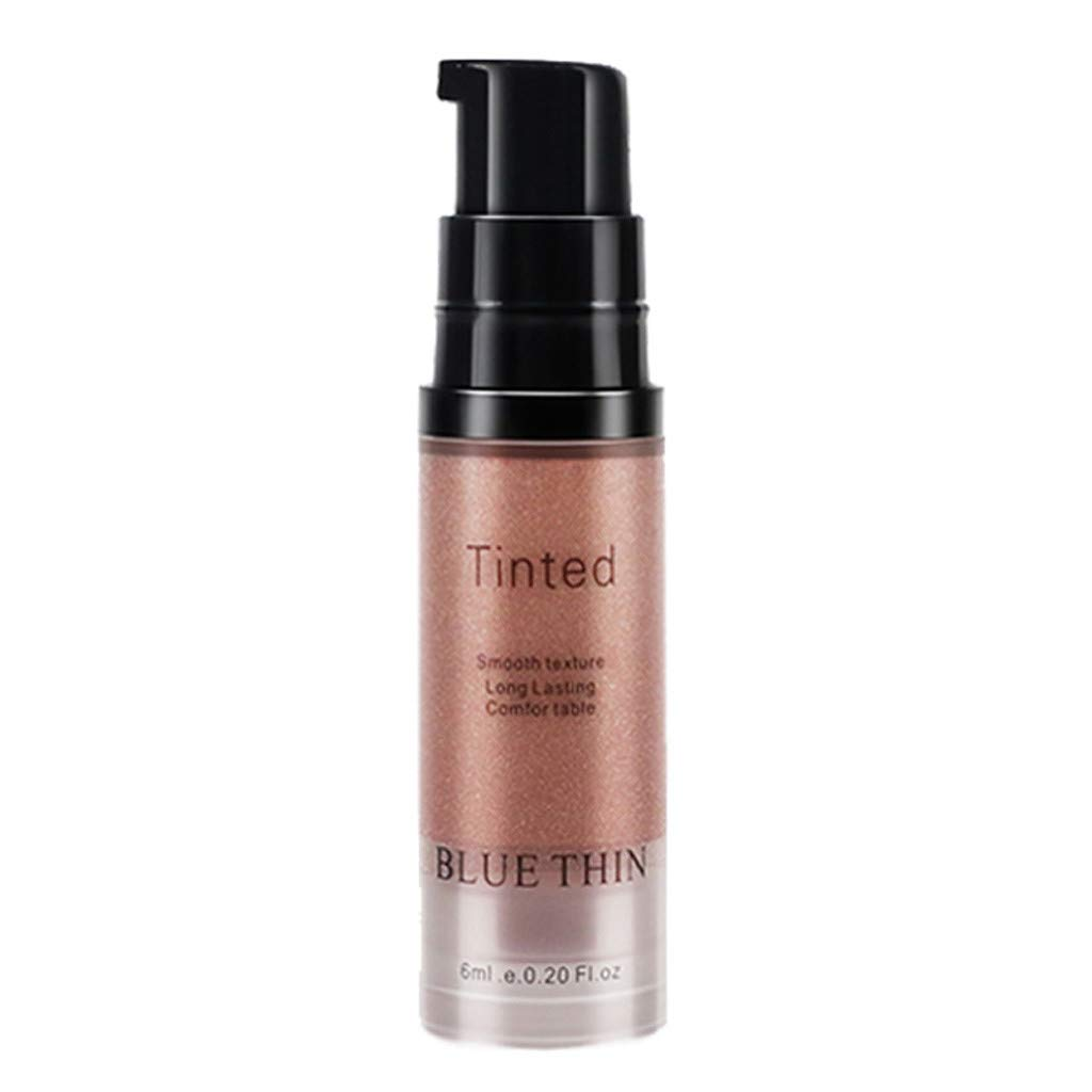 JinJin Highlighter Makeup Gold Liquid Face Eye Contour Brightener Glow Shimmer Waterproof Light Face Cosmetics (03)