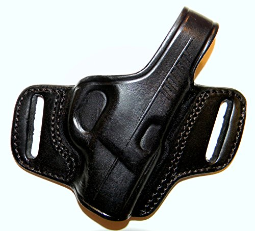 - TAGUA THUMB BREAK BELT HOLSTER FOR SIG P938 9MM, BLACK LEATHER, RIGHT-HAND DRAW