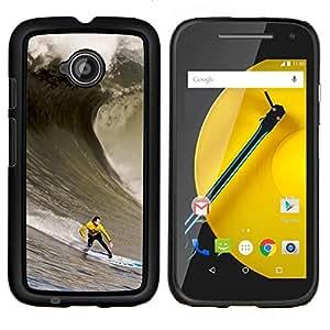 YiPhone /// Prima de resorte delgada de la cubierta del caso de Shell Armor - Enorme Ola Surfe - Motorola Moto E2 E2nd Gen