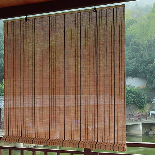 Roll up Blinds Wooden Blackout Roll-up Blinds for Window, Japanese-Style Bamboo Roller Shades, for Balcony Bedroom Tea Room, 65/85/105/125/145cm Wide (Size : 85×100cm)