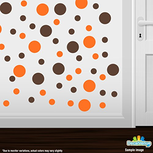 orange and brown wall decals - 3