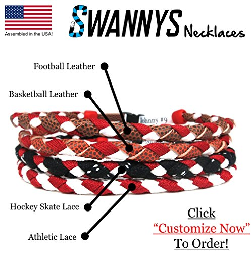 Swannys Necklace Customizeable Basketball Necklaces