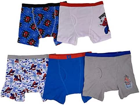 Marvel Boys' Spiderman 5 Pack Boxer Brief
