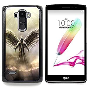 - Angel God Heaven Clouds Light Wings Art - Caja del tel????fono delgado Guardia Armor- For LG G Stylo / LG LS770 / LG G4 Stylus Devil Case