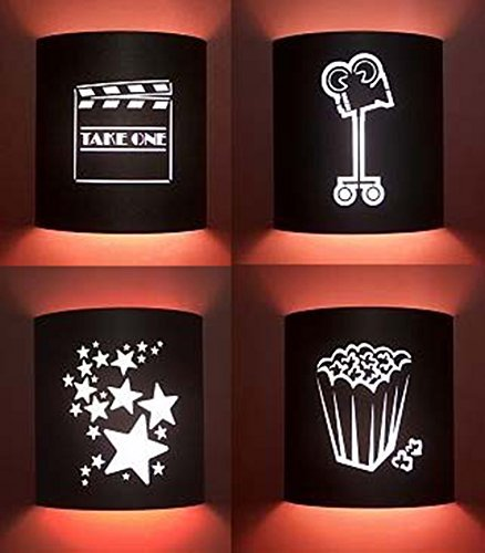 Black Home Movie Theater Sconces (Set of 4) by Stargate