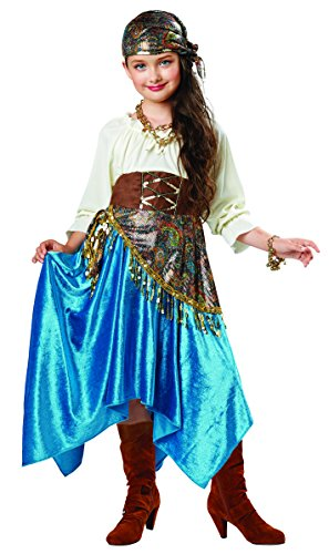 Fortune Teller Dress Up Costume, Small (4-6) (Hippie Dress Up)