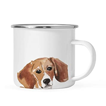 Stainless Steel Dog Campfire Coffee Mug Gift Beagle Up Close
