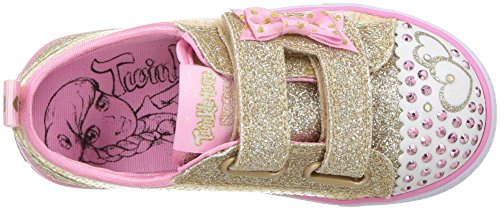 gold Skechers Bitsy Bébé Shuffles Baskets itsy Rose Textile Pink Fille Sequin Trim Multicolore BBwfZ8rq