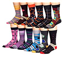 James Fiallo Mens 12 Pack Patterned Dress Socks