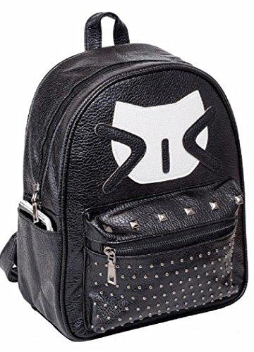 Shoulder Fashion Cat Studs Bag EmartbuyStudded Zip Ladies Women Backpack Girls Travel Rucksack Backpack vn4WWXSOq