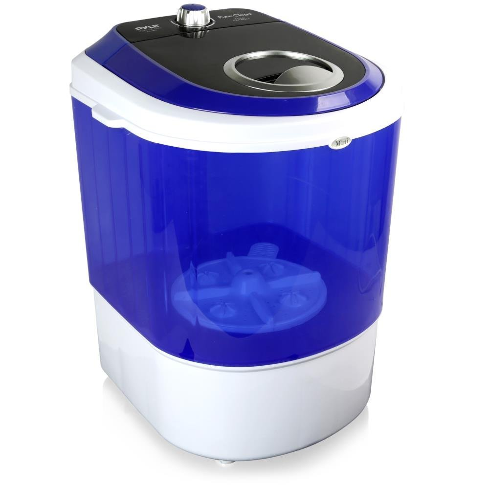 Pyle Upgraded Portable Washer - Top Loader Portable Laundry, Mini Washing  Machine, Quiet Washer, Rotary Controller, 110V - For Compact Laundry, 4.5  ...