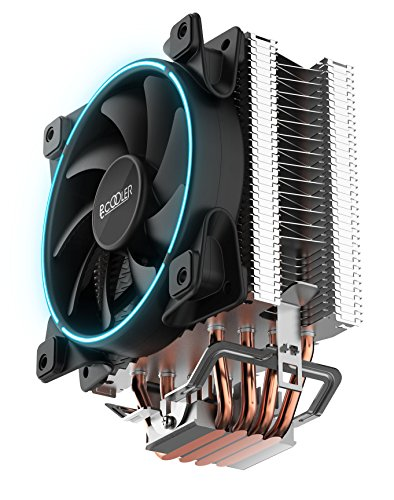 PCCooler GI-X4 4 heatpipes CPU Cooler Fan 120mm 4pin Blue LED with PWM Quiet Fan