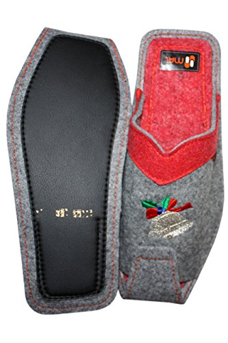 Slippers Red Bell Weri Mens Grey Red Spezials Wool Grey UwPIqPT6