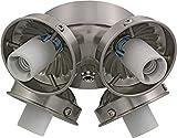 Monte Carlo H4BS 4-Light 2-1/4-Inch Fan Neck Fitter, Brushed Steel