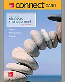 strategic management text and cases 5 e gregory g dess Strategic management text and cases by gregory dess is available now for quick shipment to any us location this edition can easily be substituted for isbn 1259899977 or isbn 9781259899973 the 9th edition or even more recent edition.