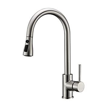 Kitchen Sink Faucet Brushed Nickel Delle Rosa Pause Function 3 Water