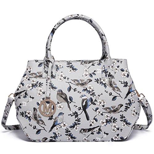 Bird Bag Satchel Bird Body Grey Messegner Lulu Handbag Baby Purse Changing Miss Bag Ladies 1633 Cross Handbag Flower 6qU4tzS