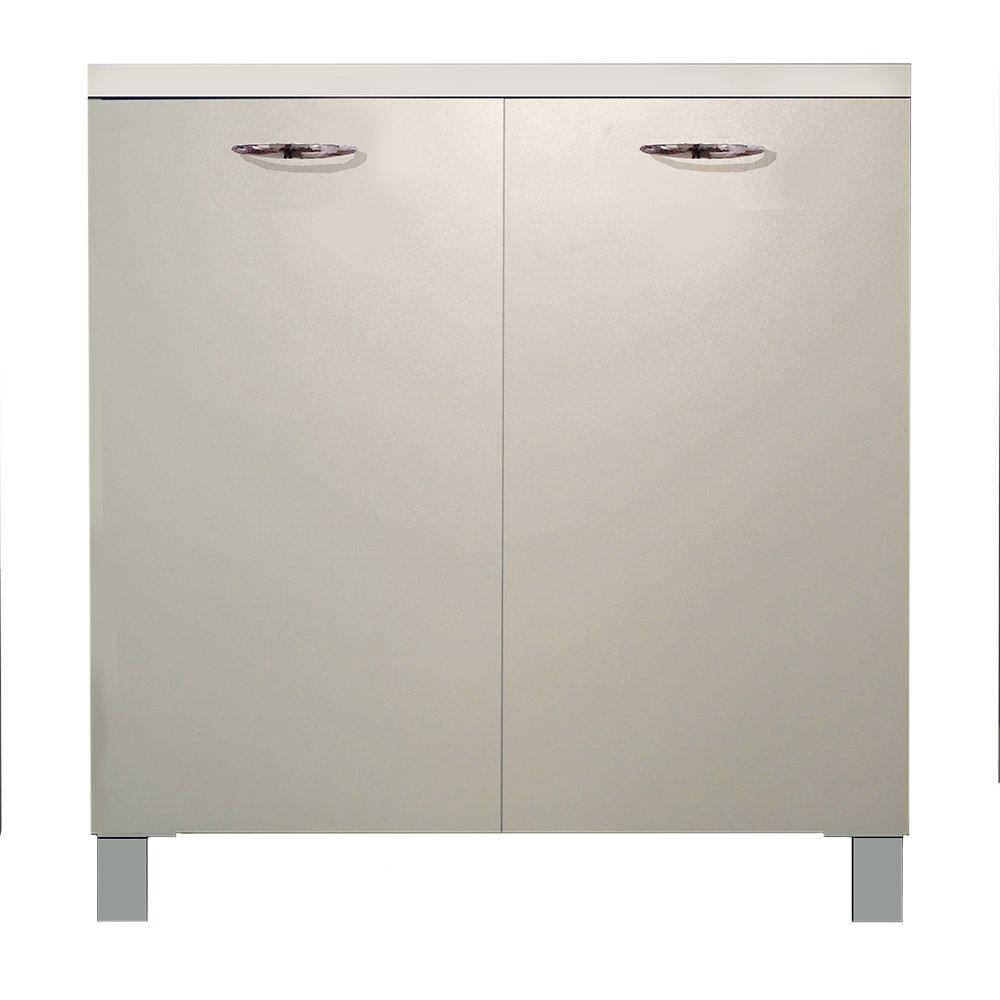 Divina Home mobile base cucina 80x50xh83cm con 2 ante 1 ripiano bianco DH55413