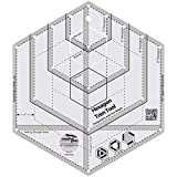 Creative Grids Hexagon Trim Tool Quilting Ruler Template CGRJAW4