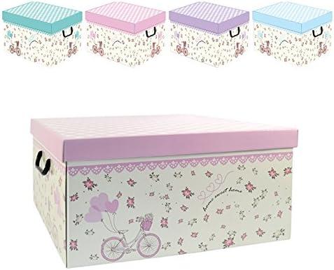 Cajas para ropa de 50 x 40 x 25 cm, de cartón duro, diseño infantil con bicicleta: Amazon.es: Hogar